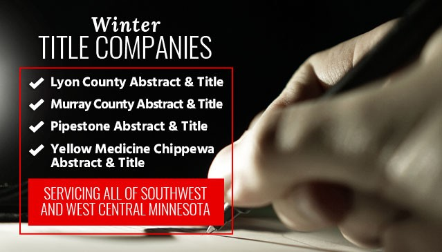 Winter Title Companies in Southwest Minnesota